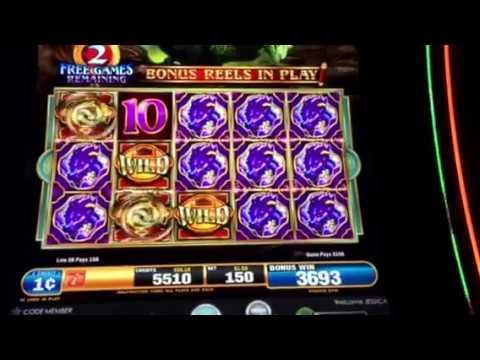 Dragon Spin Slot Machine Locking Wilds Free Spin Bonus SLS Casino Las Vegas