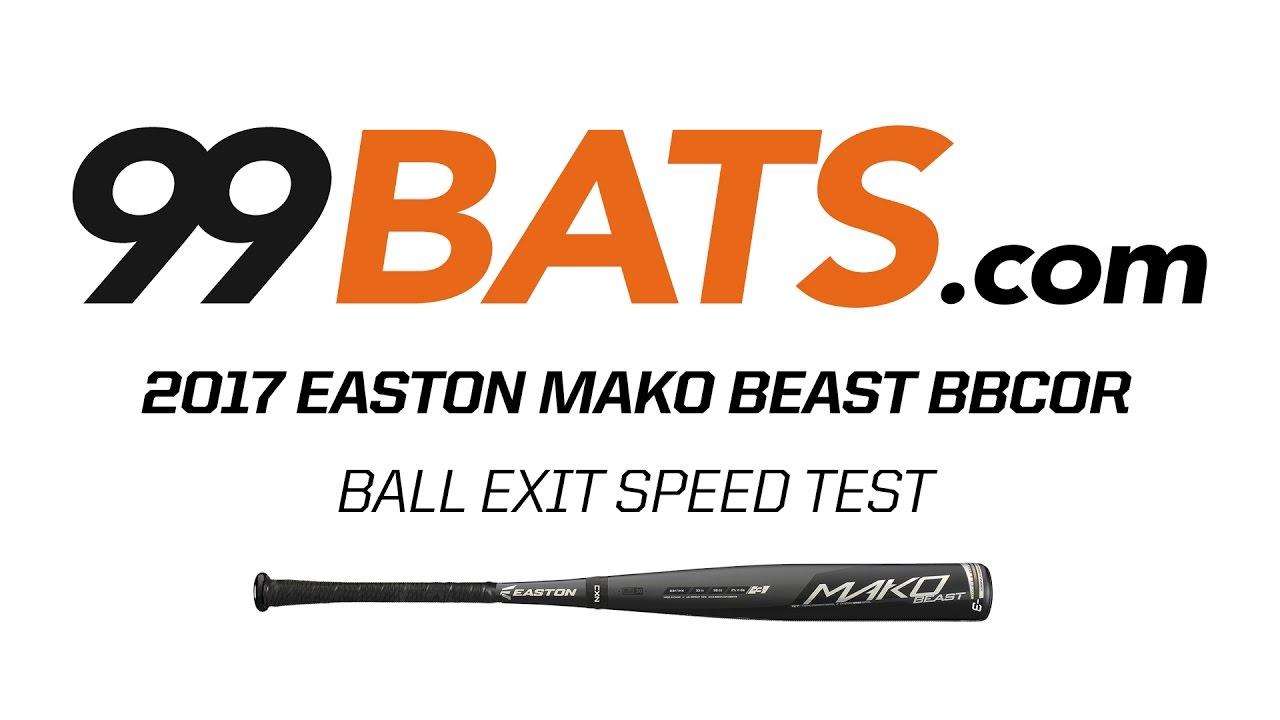 2017 Easton MAKO BEAST BBCOR - Ball Exit Speed Test - YouTube c55656673