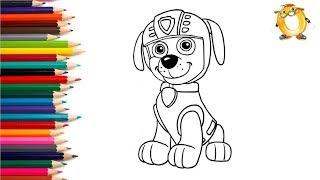 Раскраска для детей ГЕРОИ МУЛЬТИКОВ: Щенячий патруль.