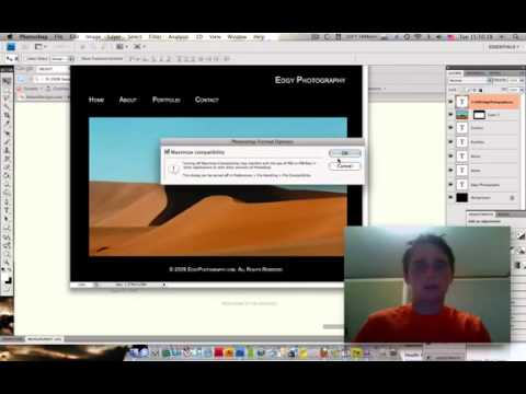 Adobe Fireworks Tutorial on How To Create a Website Fast using Photoshop