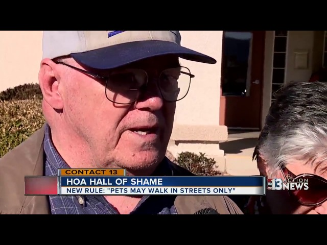 HOA forces pet owners to walk dogs in streets