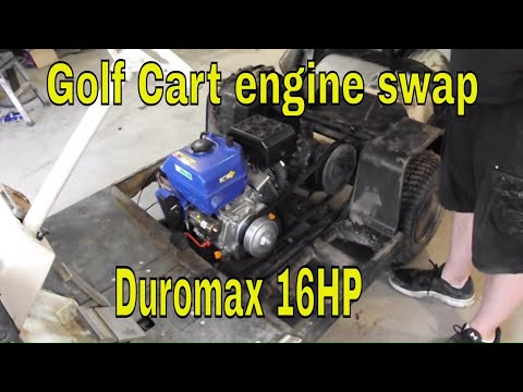 Golf cart engine swap 16HP Duromax