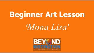 Beginner Art Lesson - Mona Lisa