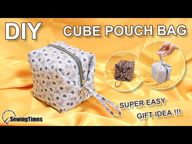 DIY CUBE POUCH BAG | Super Easy purse bag Tutorial | Sewing Gift Ideas [sewingtimes]
