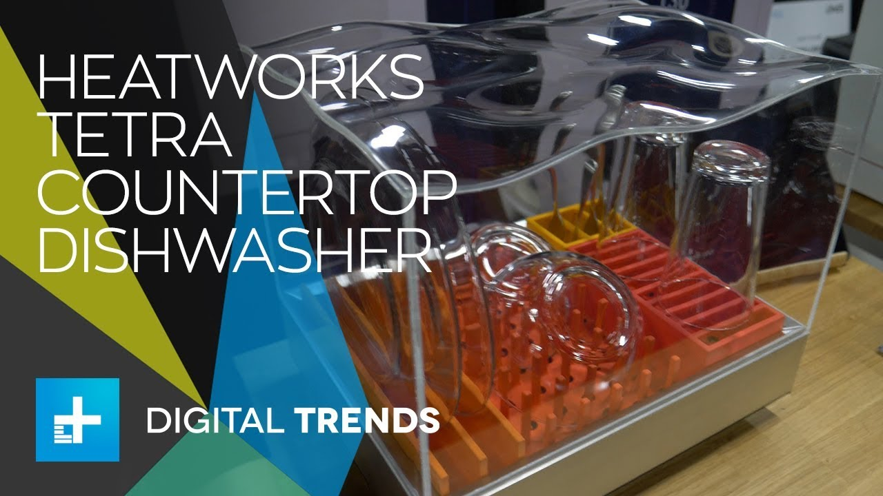 Countertop Glass Washer Heatworks Tetra Countertop Dishwasher And Sous Vide First Look At Ces 2018
