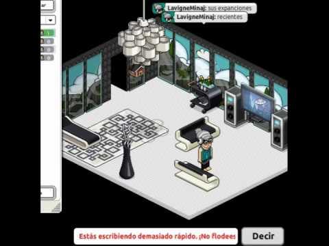 Creando casa en habbo por fuera pasillo dormitorio for Casa moderna habbo