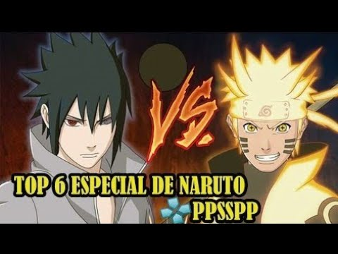 TOP 6 - JOGOS DE NARUTO PARA  PPSSPP Download /  JeffTV Games