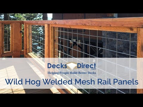 Welded Mesh Level Rail Panels By Wild Hog Railing