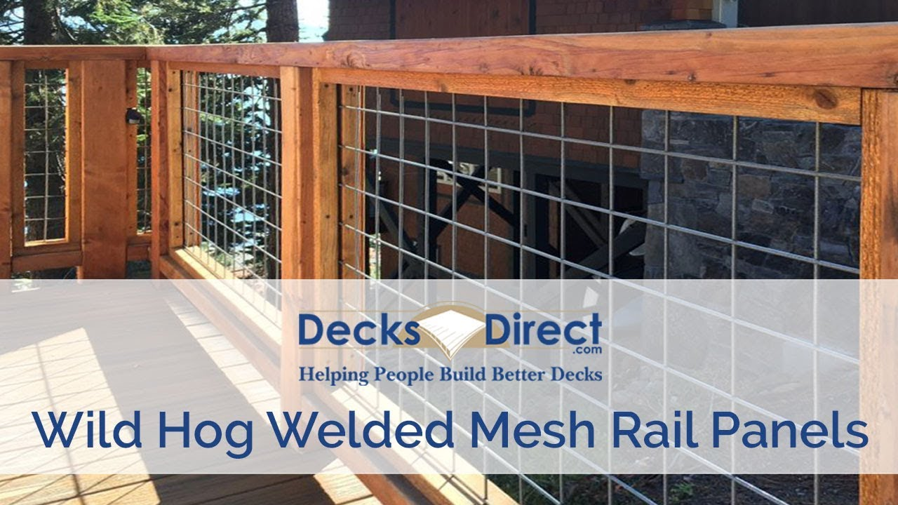 Welded Mesh Level Rail Panels By Wild Hog Railing - YouTube