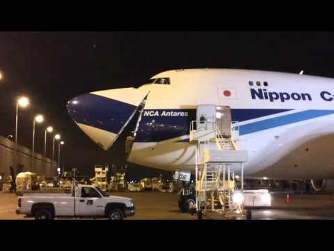 Cargo Loading To Iraq From Nose in Boing 747