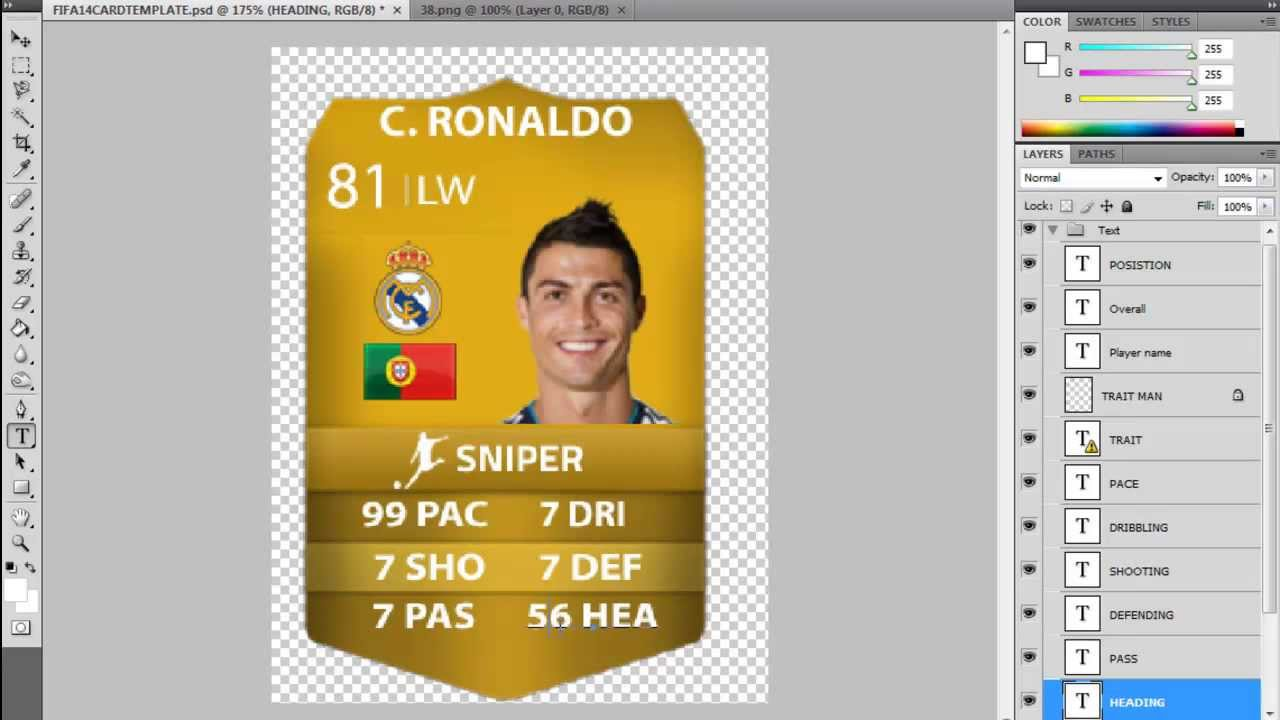 Make Your Own Ultimate Team Card