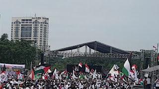 Menggetarkan !! Nyanyian Lagu Aksi Bela Palestine