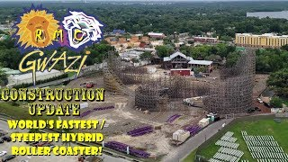 Busch Gardens Tampa RMC Gwazi / General Park Construction Update 5.14.19 Ledgers In + New Track!
