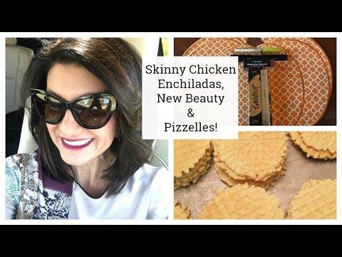 Laurens Vlog:  Skinny Chicken Enchiladas, New Beauty & Pizzelles!