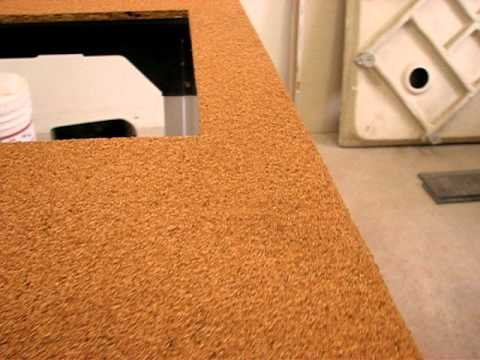 Cork Countertop cork counter top project preview - youtube