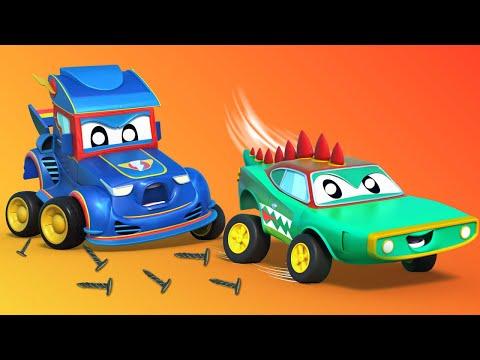 Siêu xe đua đuổi theo cá sấu! - Thành phố xe - hoạt hình cho thiếu nhi