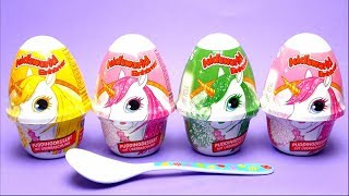 Unicorn Candy Pudding with Unicorn Toys