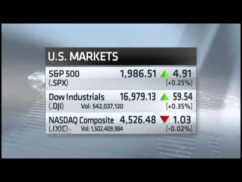 Stocks inch towards new records
