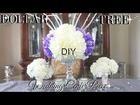 DIY DOLLAR TREE BLING WEDDING CENTERPIECES  PETALISBLESS 🌹