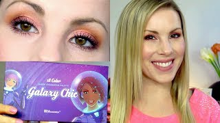 eyeshadow tutorial   pink sunset eyes   bh cosmetics galaxy chic palette   giveaway closed