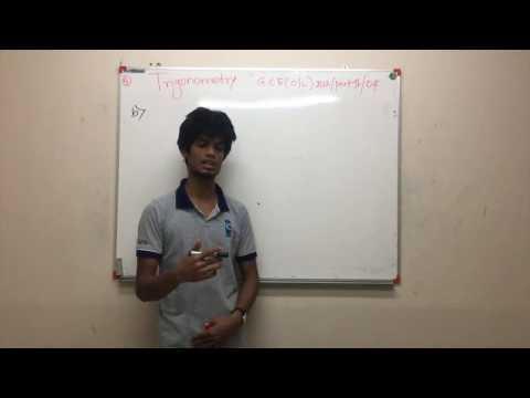 Sri Lankan GCE Ordinary Level 2012 Mathematics Trigonometry Exam Past Paper Explanation