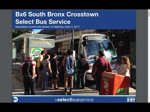 Bx6 South Bronx Crosstown +SelectBusService+ Implementation & New Electric Bus Unveiling Commentary