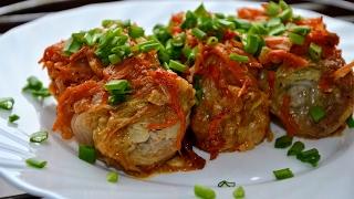 ГОЛУБЦЫ ИЗ ПЕКИНСКОЙ КАПУСТЫ/Stuffed Chinese Cabbage