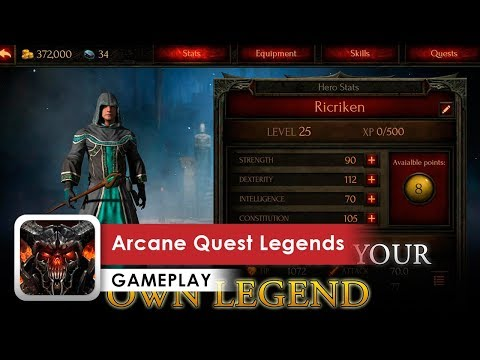 Arcane Quest Legends Gameplay HD (Android) Free RPG With Paid Chapters