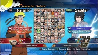 Naruto Shippuden: Ultimate Ninja Storm Generations Opening and All Characters [PS3]