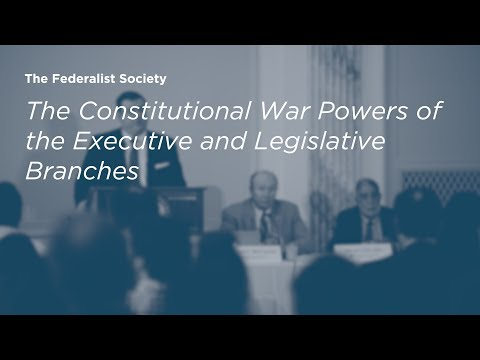 The Constitutional War Powers of the Executive and Legislative Branches