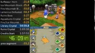 Final Fantasy Crystal Chronicles: Echoes of Time Speedrun (1:49:15) (NG+)(VH10)
