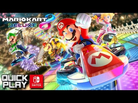 Mario Kart 8 Deluxe Gameplay! Grand Prix and Battle Mode! (Nintendo Switch Quick Play)