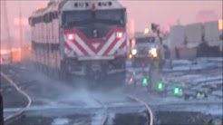 Quick Stops in Cicero & Berwyn, IL w/ BNSF SD60M 1476 - 1/2/2018