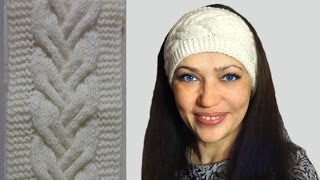 Повязка на голову спицами ◆ Совместно с  Викторией Исакиной ◆ Мастер-класс