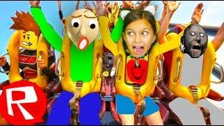 Я и БАЛДИ на СТРАШНОЙ ГОРКЕ РОБЛОКС Theme Park HeideLand! BALDI в Реальной Жизни Roblox Валеришка