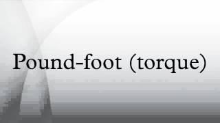 Pound-foot (torque)