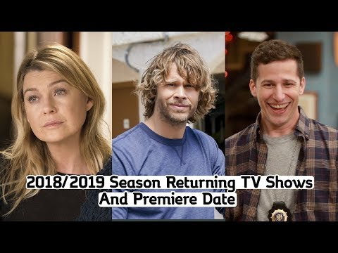 Returning TV Shows Season 2018-2019 (With Premiere Dates