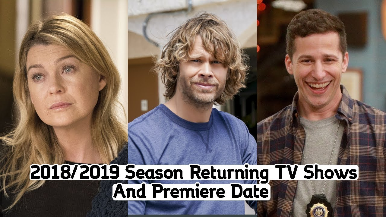 Returning TV Shows Season 2018-2019 (With Premiere Dates)