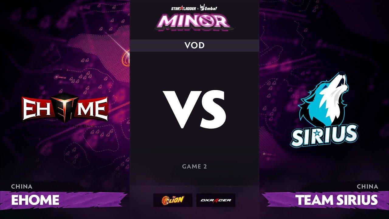 [RU] EHOME vs Team Sirius, Game 2 pt1, StarLadder ImbaTV Dota 2 Minor S2 CN Qualifiers