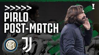 PIRLO POST MATCH Inter 1 2 Juventus Coppa Italia