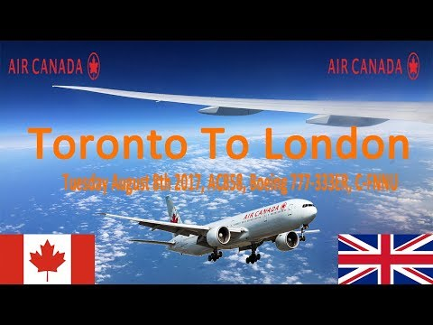 ✈FLIGHT REPORT✈ Air Canada, Toronto To London , Boeing 777-333ER, AC858