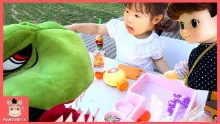 콩순이 음식 먹으려고 해요 ! 꾸러기 유니 공룡 요리놀이 ♡ 뽀로로 똘똘이 주스 가게 장난감 놀이 인기동요 핑거송 kids play toys | 말이야와아이들 MariAndKids