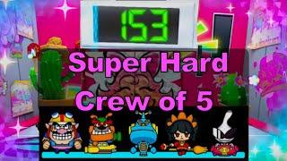 Warioware Get It Together: Super Hard - Crew of 5 - Score 153
