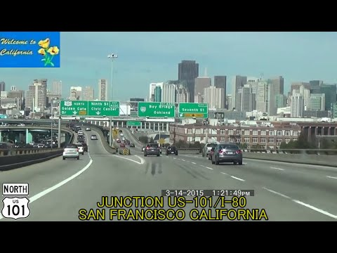 Los Angeles CA to San Francisco CA US-101 2015 HD