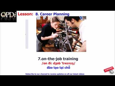 Oxford dictionary - 8. Career Planning - learn English vocabulary with picture