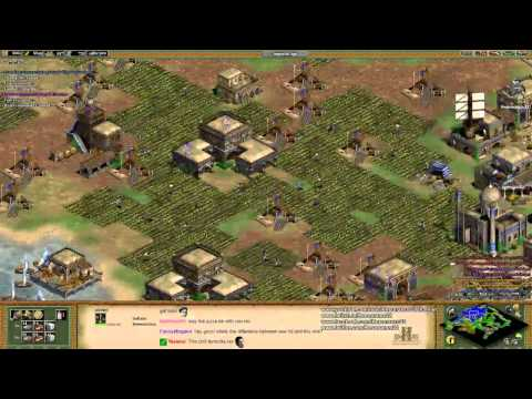 Aoe2 HD: Free-For-All 4-Way Co-Op Budapest (Indians) (Part 2/3)