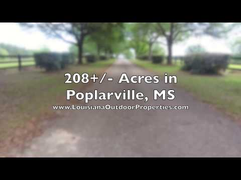 HUNTING LAND & HORSE PROPERTY FOR SALE IN POPLARVILLE, MS!!