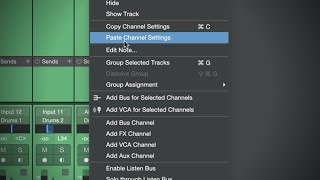Copy and Paste Multiple Channel Settings in #StudioOne