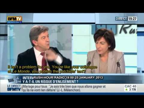 Pt 2 of 2 J-L MELENCHON 25 JAN 2013 BFMTV English subtitles