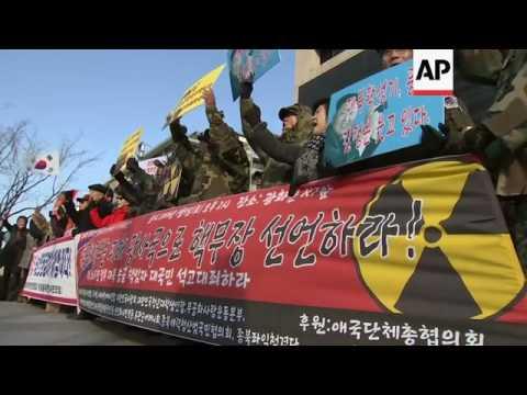 Raw: Anti-North Korea Protest in Seoul